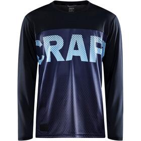 Craft Core Offroad XT Maglietta a Maniche Lunghe Uomo, nero/blu